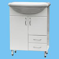 Тумбочка под умывальник для ванной Т-21 белая с ящичками выбор цвета размера или нанесение лазерного рисунка
