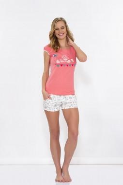 Повсякденна жіноча піжама із шортами та футболкою HAYS 5506