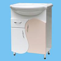 Тумбочка в ванную под умывальник Т-23 белая или другой цвет нанесение рисунка или фрезеровки