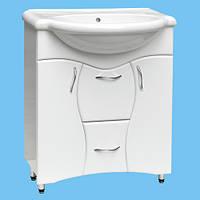 Тумба под умывальник для ванной Т-28 белая возможно нанесение Фрезеровки или Рисунка покраска в другой цвет