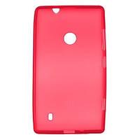 Чехол накладка Drobak Nokia Lumia 520 красная