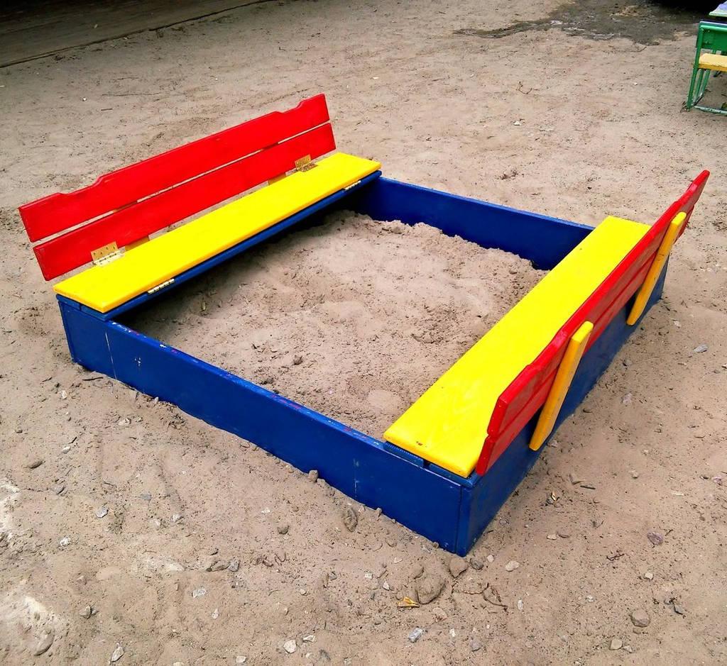 Песочница детская деревянная Трансформер с крышкой