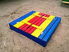 Песочница детская деревянная Трансформер с крышкой, фото 2