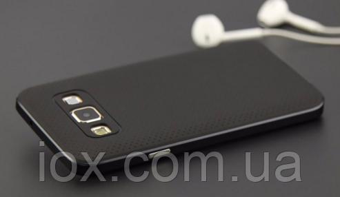 Силиконовый двойной черный чехол для Samsung Galaxy A5