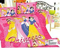 Постельное белье сатин 3D Принцессы