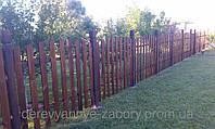 Забор деревянный штакетник под ключ