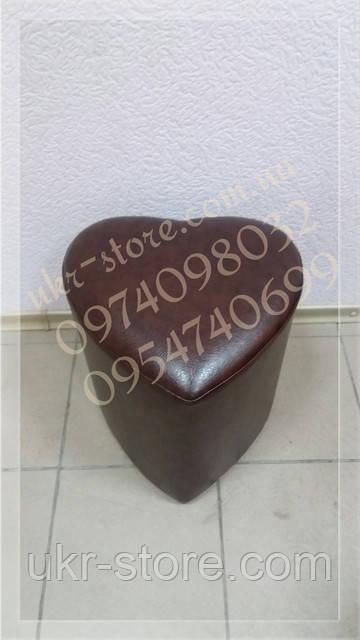 Пуфик шоколадного цвета