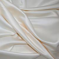 Портьерная ткань атлас микрофибровый, цвет молочный