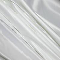 Портьерная ткань атлас микрофибровый, цвет белый