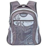 Мужской рюкзак с карманом для ноутбука GRIZZLY (ГРИЗЛИ) GRU-320-2-grey-blue