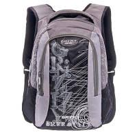 Мужской рюкзак с карманом для ноутбука GRIZZLY (ГРИЗЛИ) GRU-320-1-grey-black
