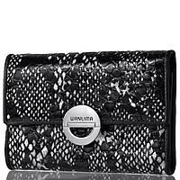 Кошелек или Портмоне Wanlima Кожаный женский кошелек WANLIMA (ВАНЛИМА) W11045340662-black-white
