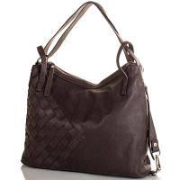 Кожаная женская сумка LILOCA (ЛИЛОКА) LC10294-dark-brown