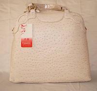 Шикарная женская сумка Fika Montino оригинал (экокожа под страуса), фото 1