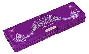 """Пенал школьный 2 отделения на магнитах Cool For School CFS85555 """"Violet Tiara"""""""