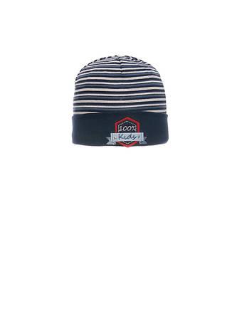 Красивая, одинарная, трикотажная шапка для мальчика, фото 2