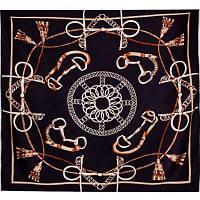 Платок женский шелковый 90*90 см ETERNO (ЭТЕРНО) ES0611-7-black