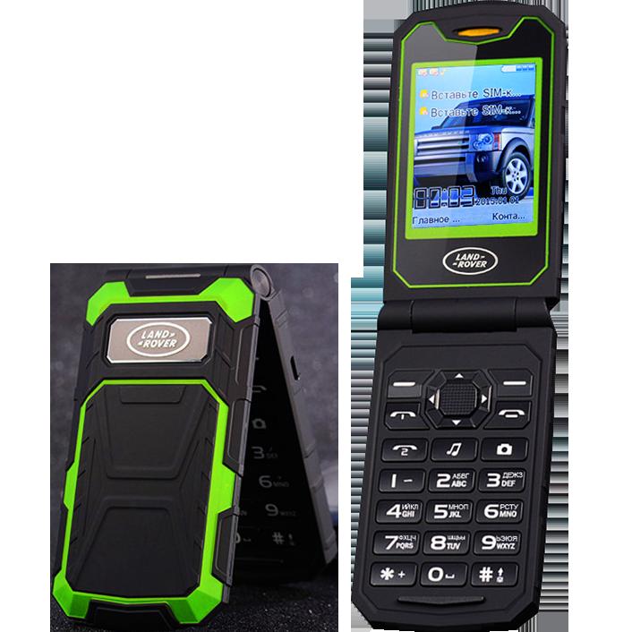 15ae179233d7 Land Rover F999. Батарея 2800 мАч, 2 SIM, FM, MP3, громкий динамик! Противоударный  телефон-раскладушка!