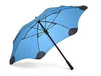 Противоштормовой зонт-трость женский механический BLUNT (БЛАНТ) Bl-mini-blue
