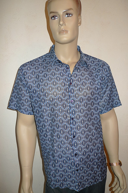 Рубашка мужская голубая большой размер