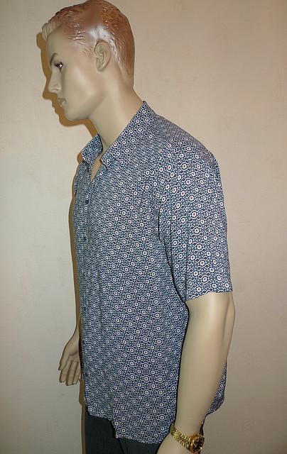 Мужская рубашка хлопок бамбук большого размера