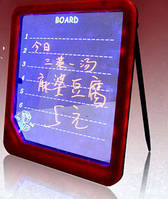 Маркерна LED-дошка для записів (із підсвіткою) / Маркерная светящаяся светодиодная доска для записей