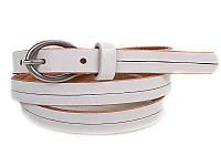 Женский узкий кожаный ремень ETERNO (ЭТЕРНО) E7096-white