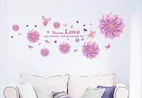 Інтер'єрна наклейка на стіну Фея квітів / Интерьерная наклейка на стену Фея цветов, mAM6004 50x120см