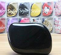 Гребінець для волосся Tangle Teezer Compact чорний / Расческа для волос Тангл Тизер Компакт черная