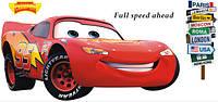 Інтер'єрна наліпка в дитячу Тачки Маквін / Интерьерная наклейка на стену в детскую Тачки Маквин (ay9006)