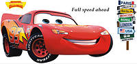 Інтер'єрна наліпка в дитячу Тачки Маквін / Интерьерная наклейка на стену в детскую Тачки Маквин (ay9006), фото 1