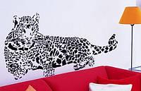 Інтер'єрна декоративна наліпка на стіну Леопард / Интерьерная декоративная наклейка на стену Леопард (AY9029), фото 1