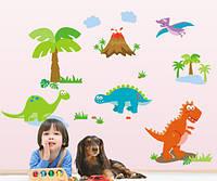Интерьерная наклейка на стену Парк Динозавров (ay9044)