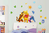 Інтер'єрна наліпка Вінні Пух та його друзі / Интерьерная наклейка на стену Винни Пух и друзья (ay7034), фото 1