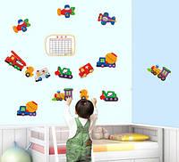 Інтер'єрна наклейка Іграшковий Транспорт / Интерьерная наклейка на стену Игрушечный Транспорт, ay643
