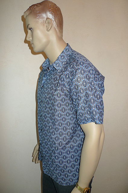 Рубашка короткий рукаво большой размер