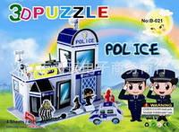 Набір для творчості 3D пазли - Police / Набор для творчества 3D пазл - Полиция