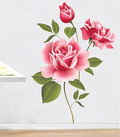 Интерьерная наклейка на стену Розы (XY8009)