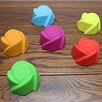 Силіконова форма для кексу Троянда / Силиконовая форма для кекса Роза (для выпечки, охлаждения, замораживания)
