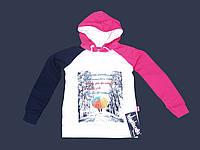"""Детская кофта с капюшоном на девочку белая """"зонт"""" (1522033)"""