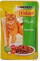 Пауч для котов Friskies, с кроликом, 100 г