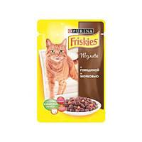 Пауч для котов Friskies, с говядиной,  упаковка 26х85 г