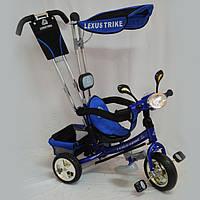 Велосипед Детский Трехколесный OPT-S-WS862EW-M(светящаяся фара, облегченная металлическая рама, ручка-толкатель )