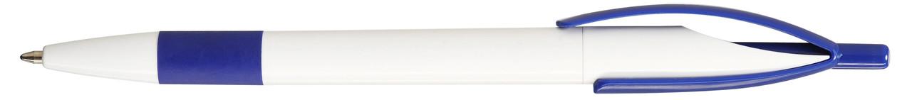 Ручка пластиковая VIVA PENS Cleo rubber бело-синяя