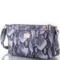 Женская кожаная сумка-клатч VALENTA (ВАЛЕНТА) VBE6081168-grey