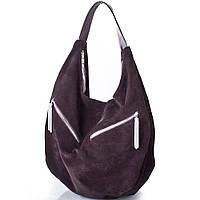 Женская дизайнерская замшевая сумка GALA GURIANOFF (ГАЛА ГУРЬЯНОВ) GG1247-brown