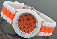 Годинник наручний жіночий Geneva Sport Оранжевий / Часы наручные женские Женева Спорт Оранжевые