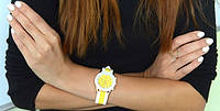 Часы наручные женские GENEVA sport Желтые