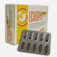 ЭСИНОРМ ФОРТЕ Лечение язвы желудка, двенадцатиперстной кишки, повышенной кислотности.