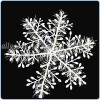 Снежинки 3 шт.  Новогодний декор 18см диаметр